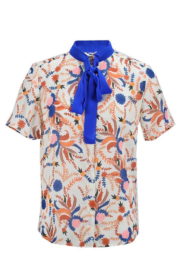 OUTLET | Camisa Floral Laço