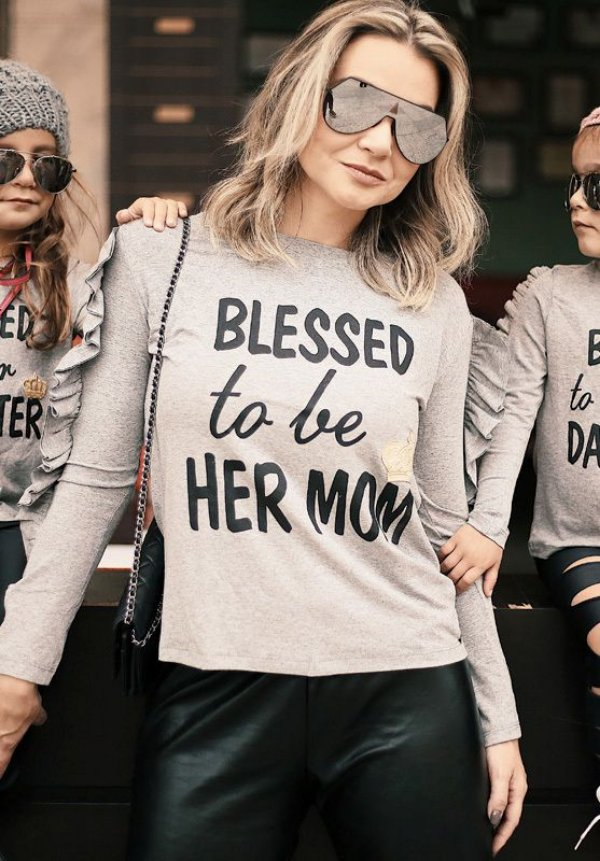 "Blusa ""Blessed to be her Mom"""