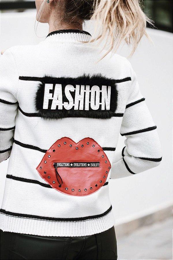 Casaco Tricot Fashion Kiss