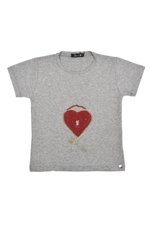 LANÇAMENTO | Camiseta Coração e Chave Blessinha