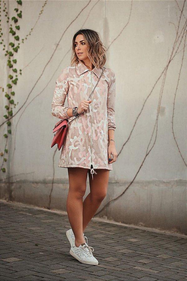 SALE | Casaco Parka Chamois Camuflado Millennial Pink