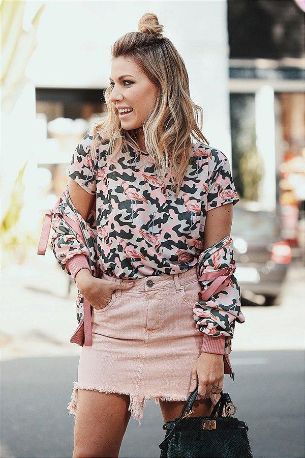 LANÇAMENTO | Blusa Camuflado Flamingo