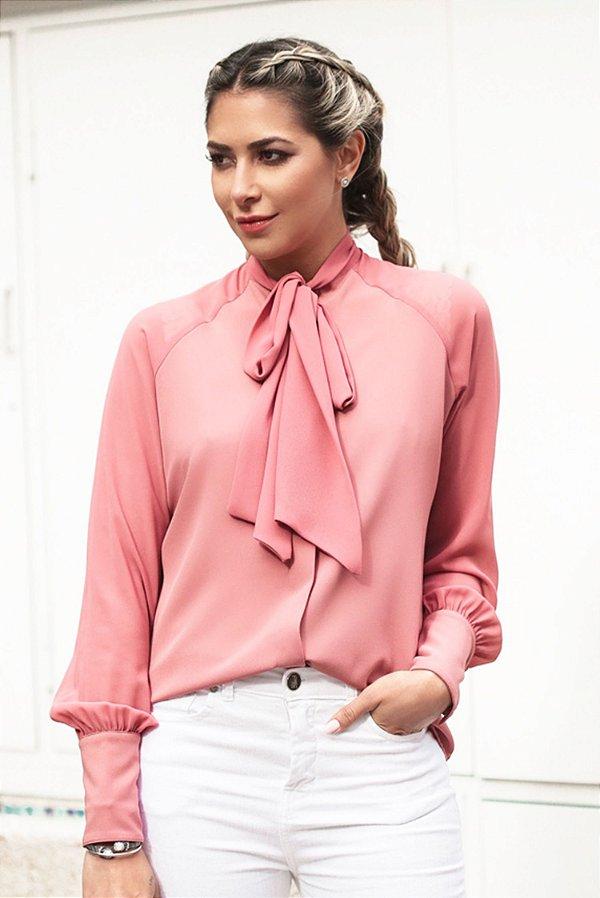 SALE | Camisa Gola Laço