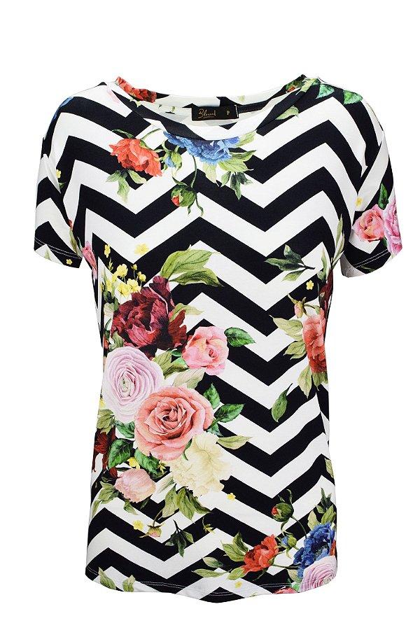 SALE| Blusa Estampa Pe B Flores