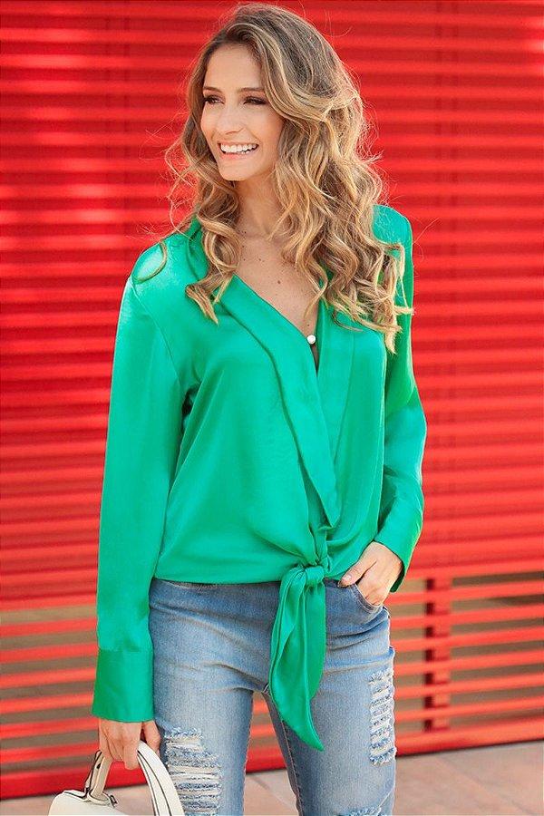 LANÇAMENTO | Camisa Verona Decote Basic Verde