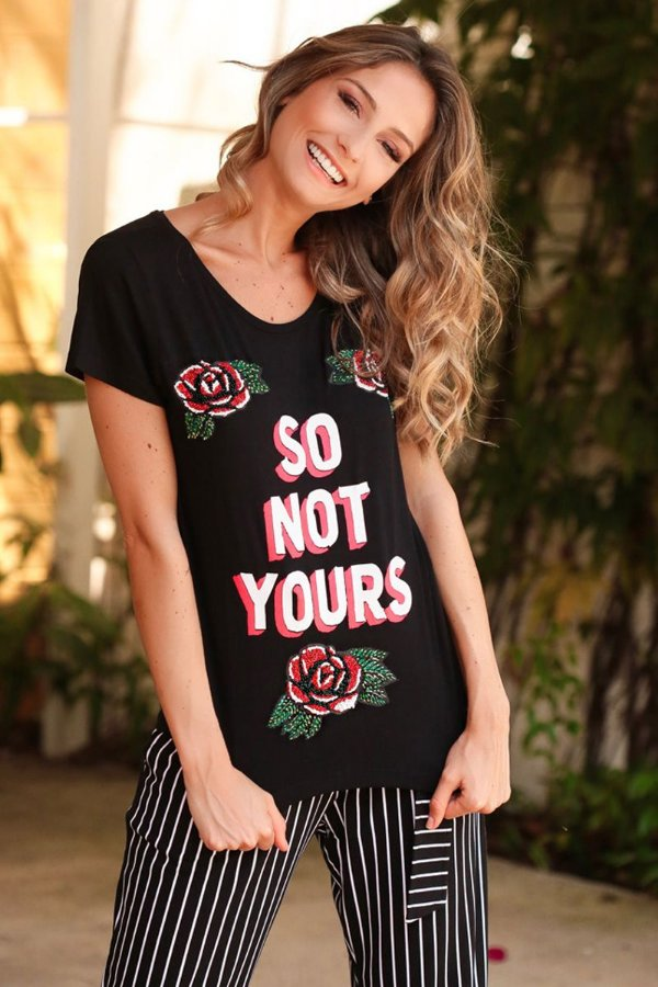 SALE | Blusa Rosas Bordada So Not Yours