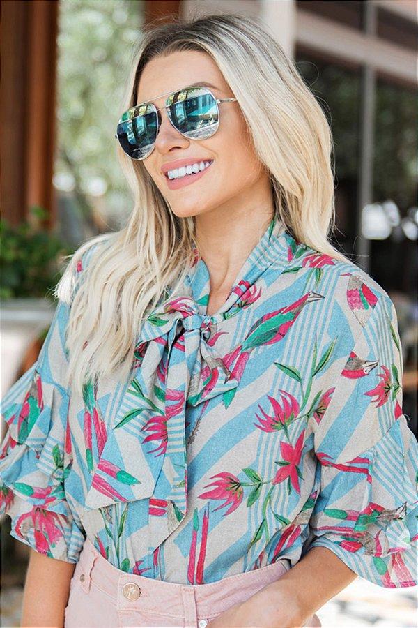 SALE   Camisa Estampa Summer Bird