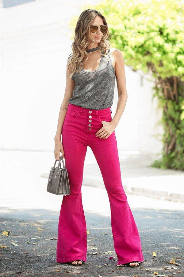 SALE | Calça Flare Blessed Pink