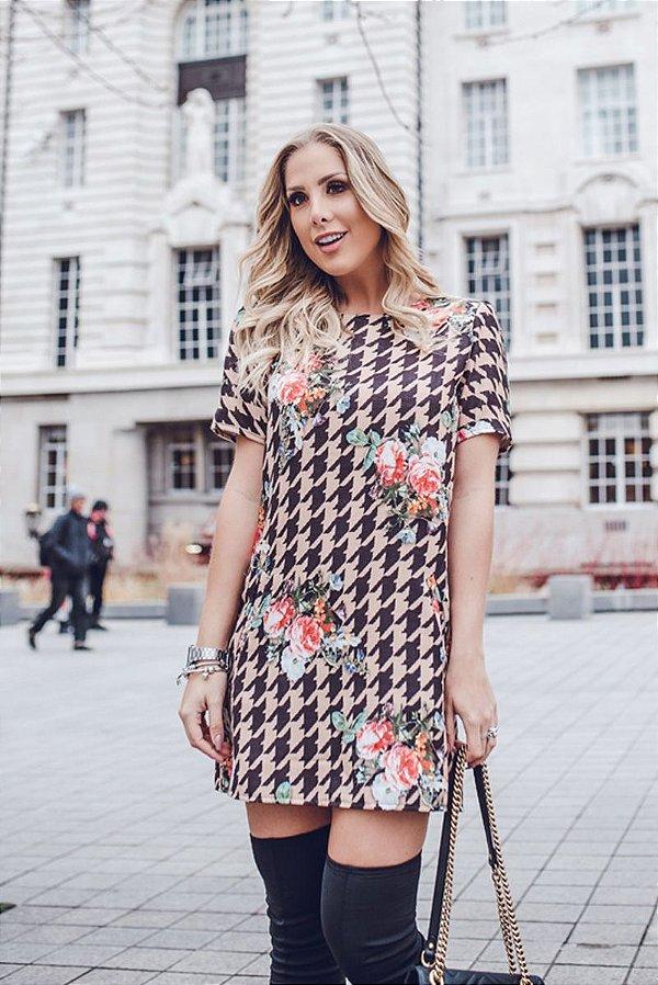LONDON COLLECTION | Vestido Estampa London Pied Poule