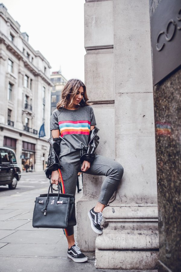 LONDON COLLECTION | Conjunto Moletom Rainbow