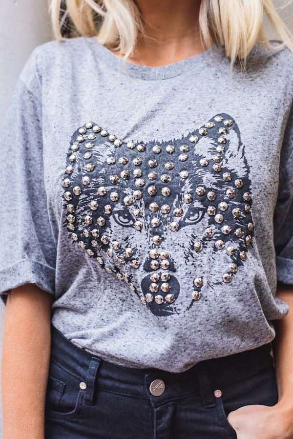LONDON COLLECTION | T-shirt Bordada Wolf