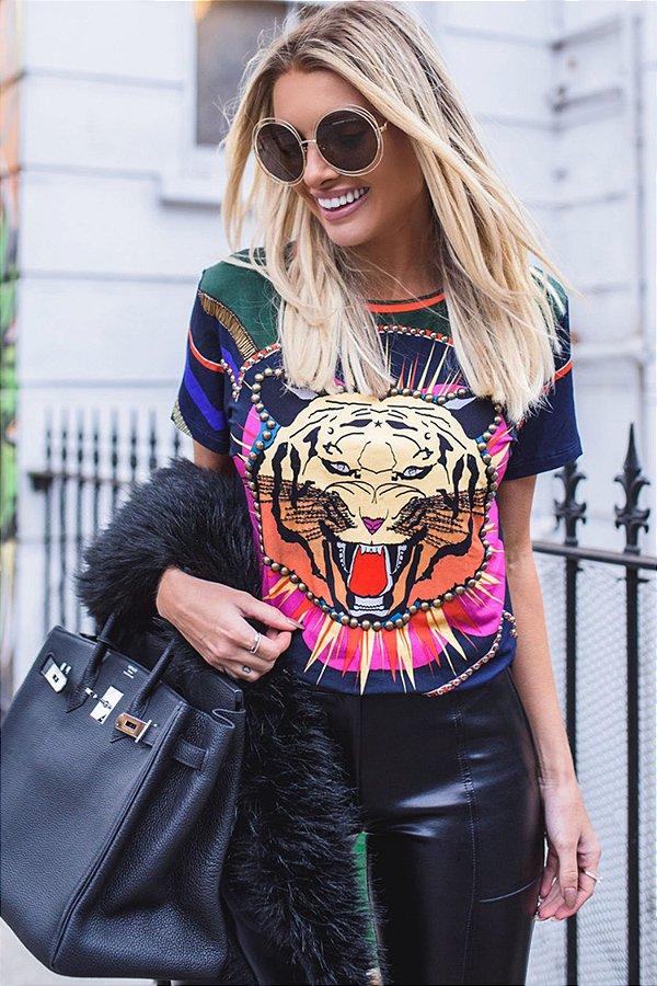 LONDON COLLECTION | Blusa Estampa Tigress