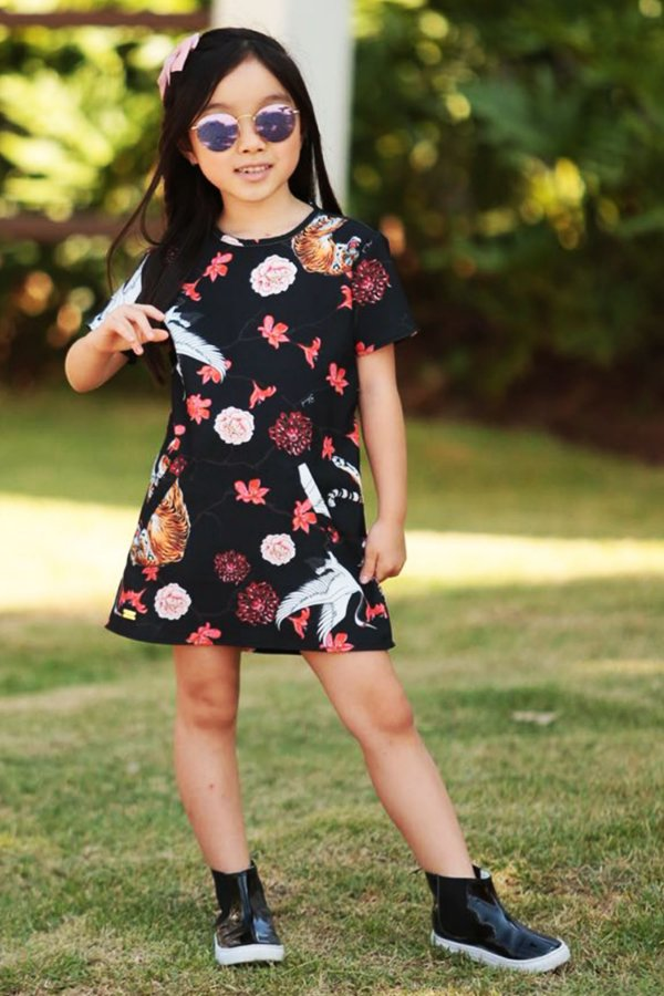 OUTLET | Vestido Blessinha Black Tiger