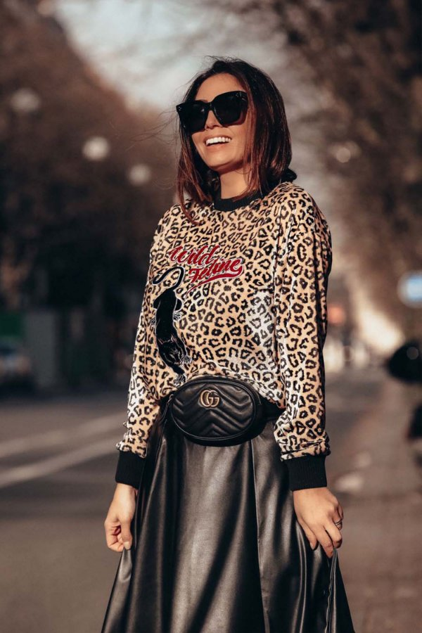 PARIS COLLECTION | Blusa Wild Feline Bordada