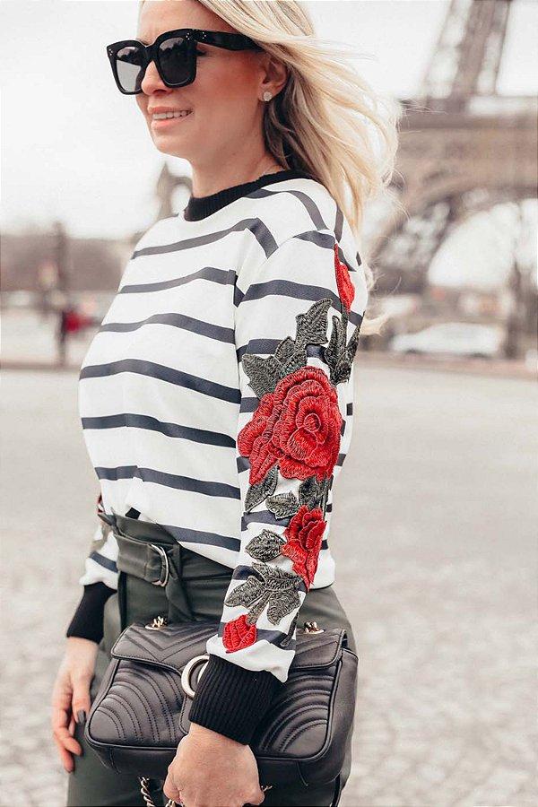 PARIS COLLECTION   Blusa Listrada Rouge