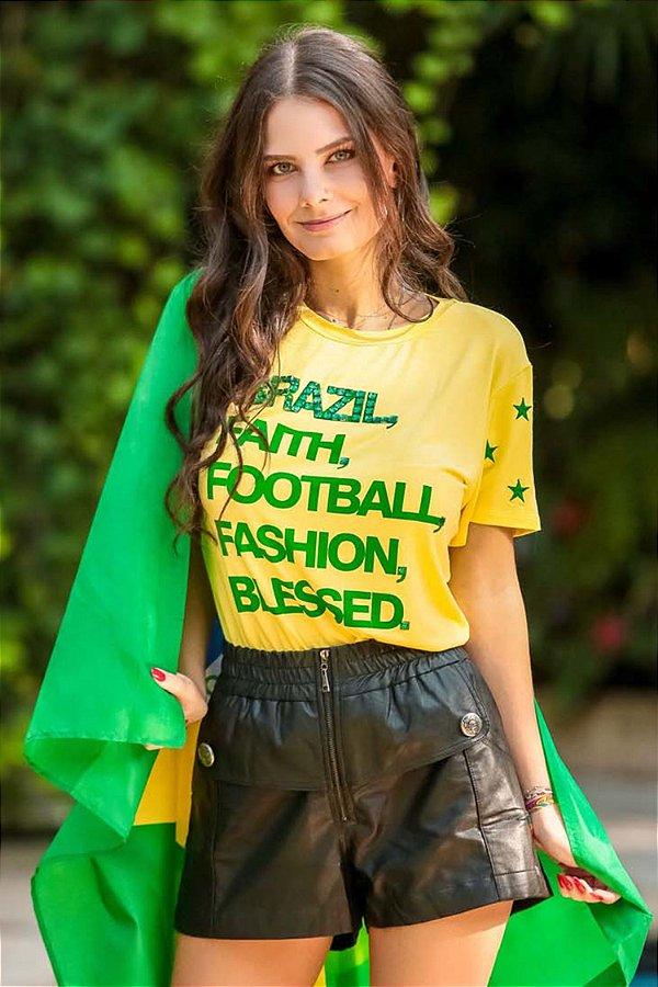 World Cup   Shorts Exclusive Fake Botões Frontal Preto