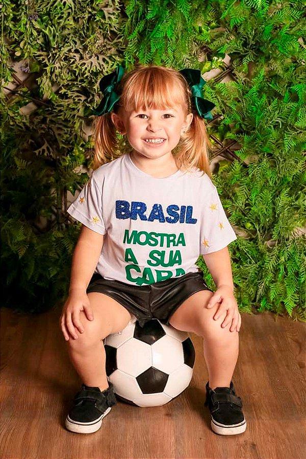 WORL CUP   Blusa Blessinha Brasil Mostra a sua Cara