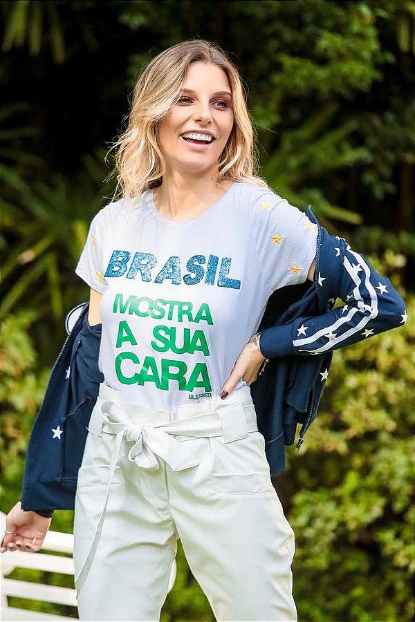 WORLD CUP | Blusa Brasil Mostra Sua Cara Estrela Mangas