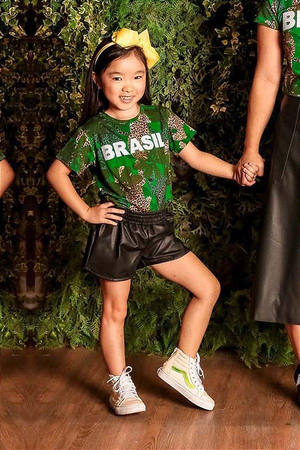 WORLD CUP | Blusa Blessinha Onça Verde Brasil