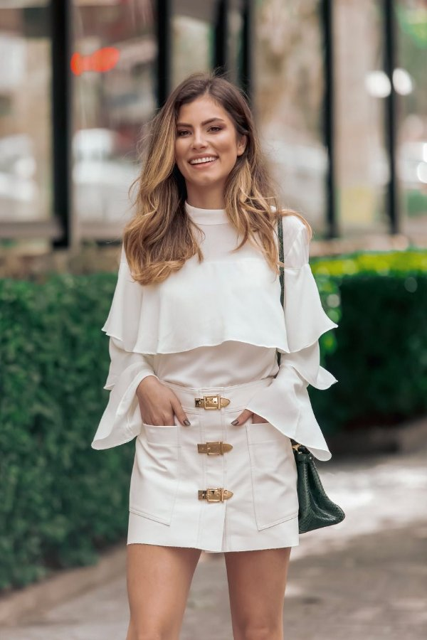 ESPECIAL SALE   Camisa Off-White Babados
