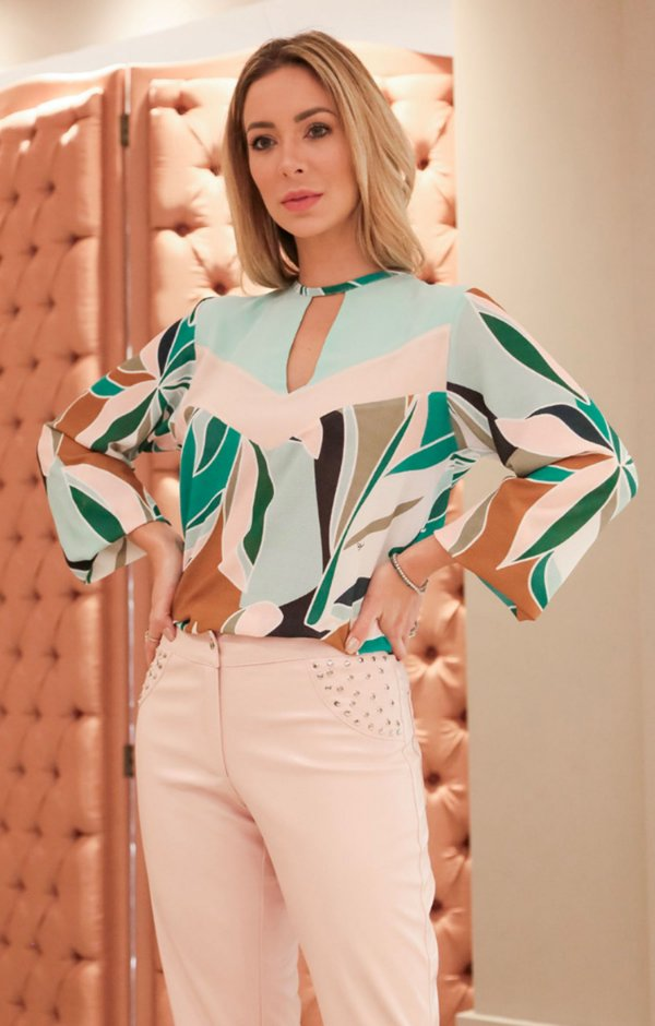 SPRING PREVIEW | Blusa ML Geometric