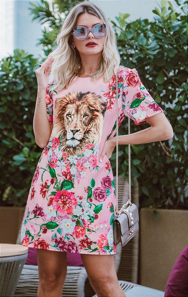 SPRING PREVIEW   Vestido Estampa Lion Flowers