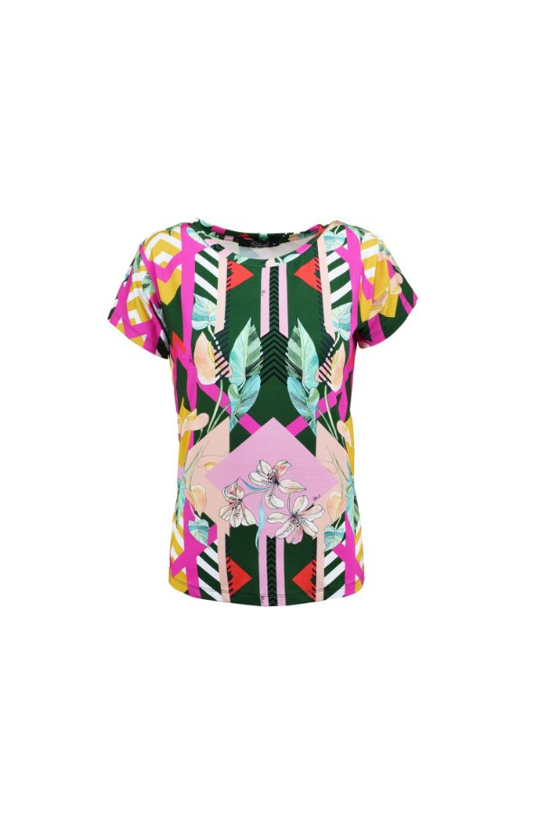 SPRING PREVIEW   Blusa Teen Geometric Flowers