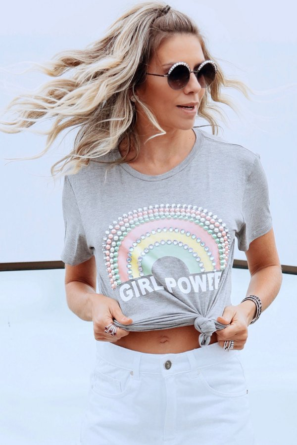 SPRING PREVIEW | T-shirt Girls Power Rainbow