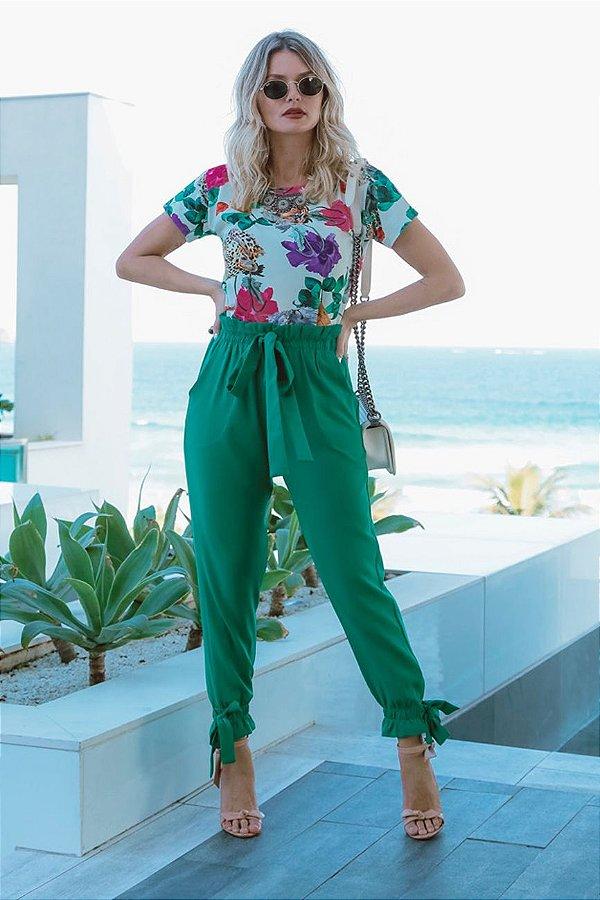 ESPECIAL SALE | Tshirt Estampa Wild Soft Colar Bordado