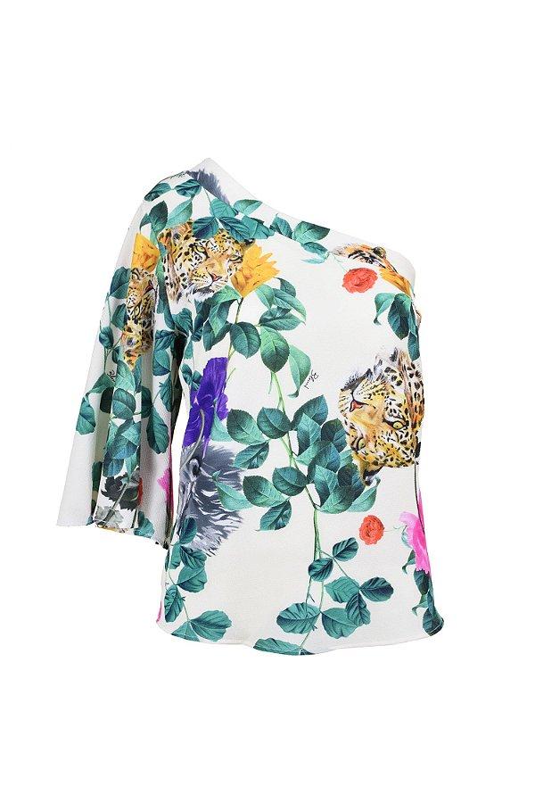 ESPECIAL SALE | Blusa Estampa Wild Soft Detalhe Ombro
