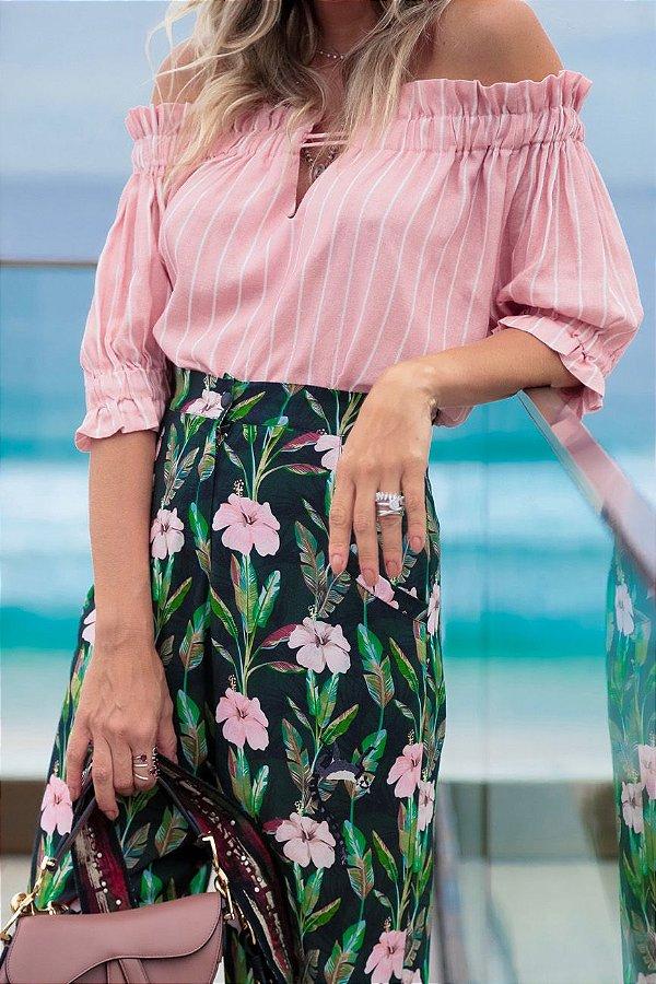 SPRING PREVIEW | Blusa Ciganinha Listrada Rose
