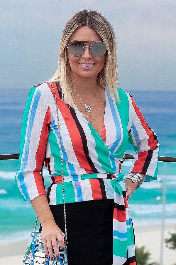 SPRING PREVIEW | Blusa Listras Colors Amarração