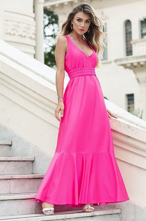 SUMMER PARADISE | Vestido Longo Neon c/ Cinto