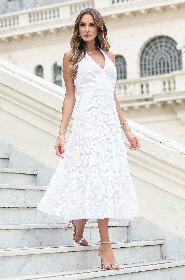 SUMMER PARADISE   Vestido Frente Ùnica White Detail