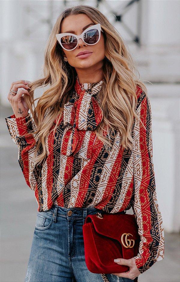URBAN STYLE | Camisa Laço Red Stripes
