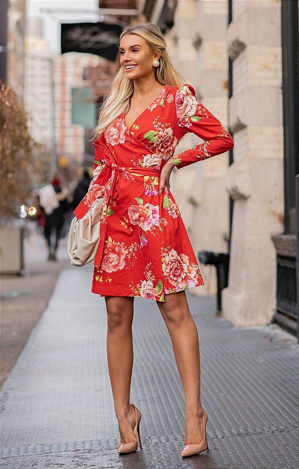 NYC COLLECTION | Vestido Magnolia Floral Red