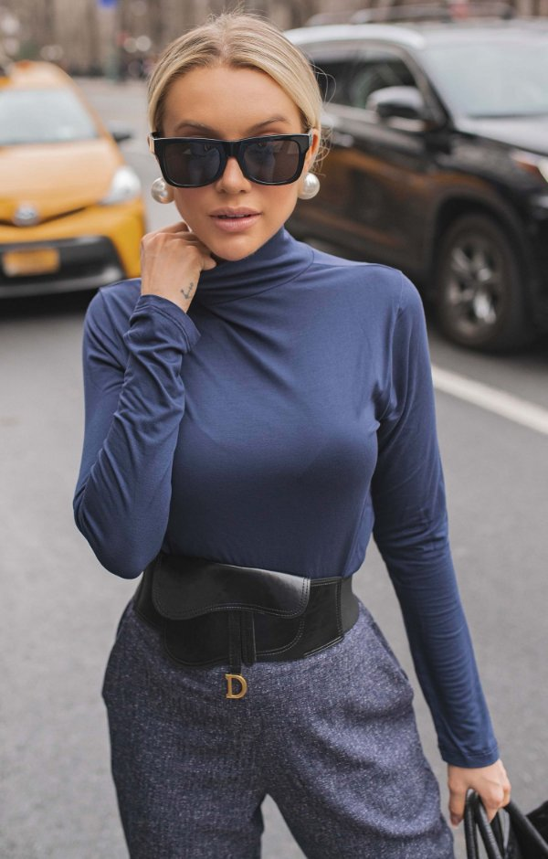 NYC COLLECTION | Blusa Turtleneck Gola Alta Ivy Colors