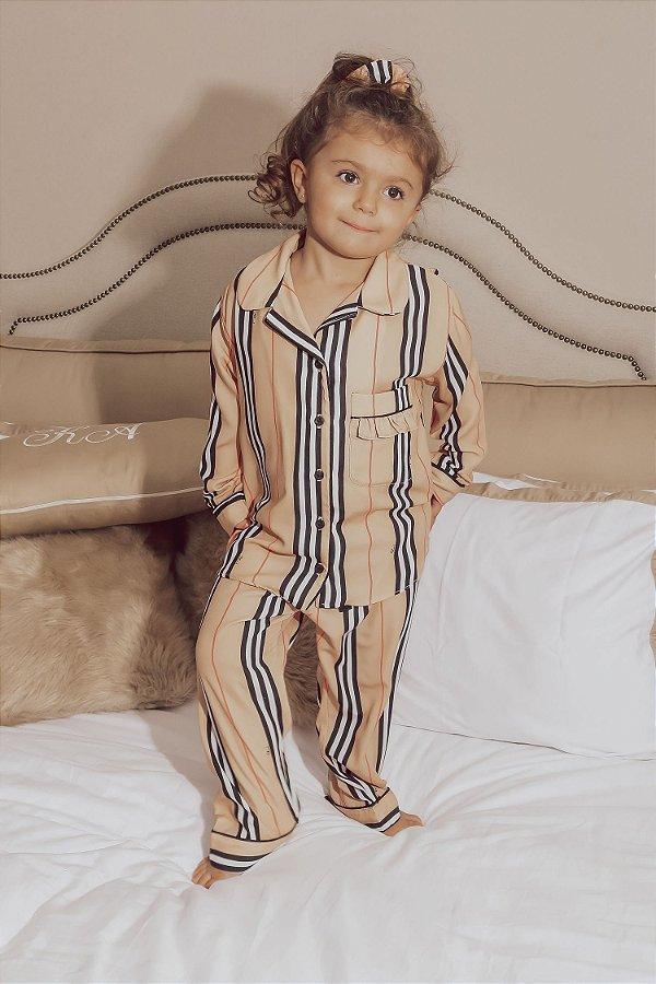 Pijama Blessinha Infantil Bonne Nuit C/ Màscara de Dormir e Scrunchie | L'AMOUR COLLECTION