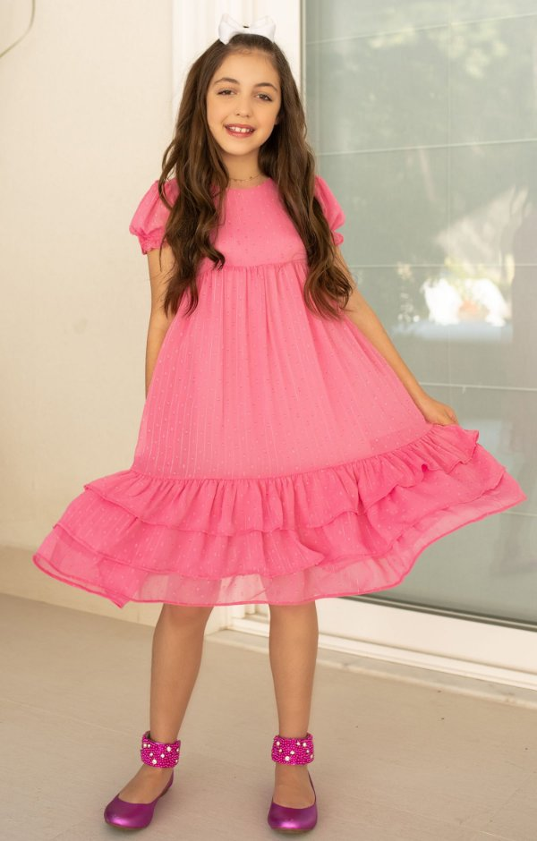Vestido Blessinha Jasmim Rosa   DROPS OF JOY