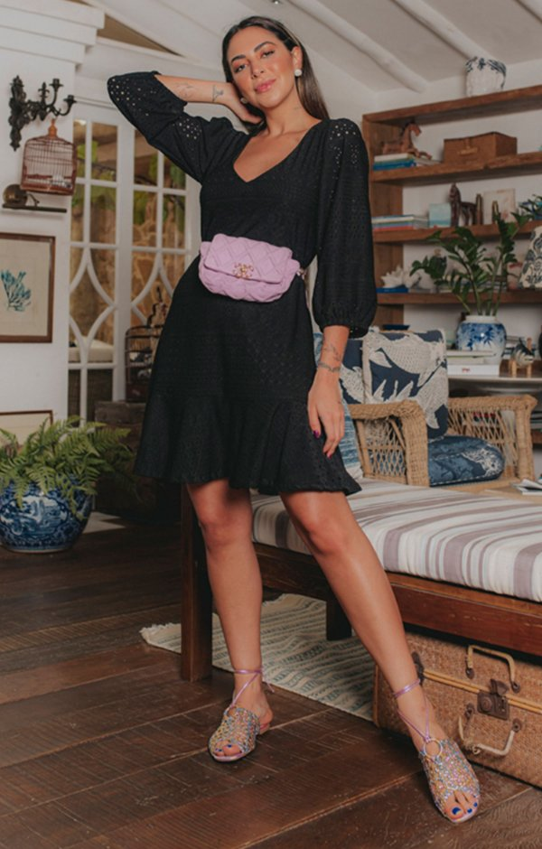 Vestido Côte D'azur Preto | RIVIERA FRANCESA