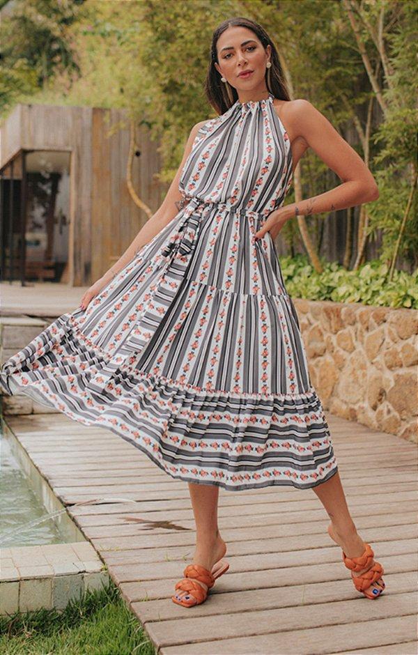 Vestido Mônaco Midi | RIVIERA FRANCESA