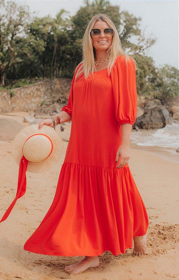 Vestido Cannes Midi Coral| RIVIERA FRANCESA