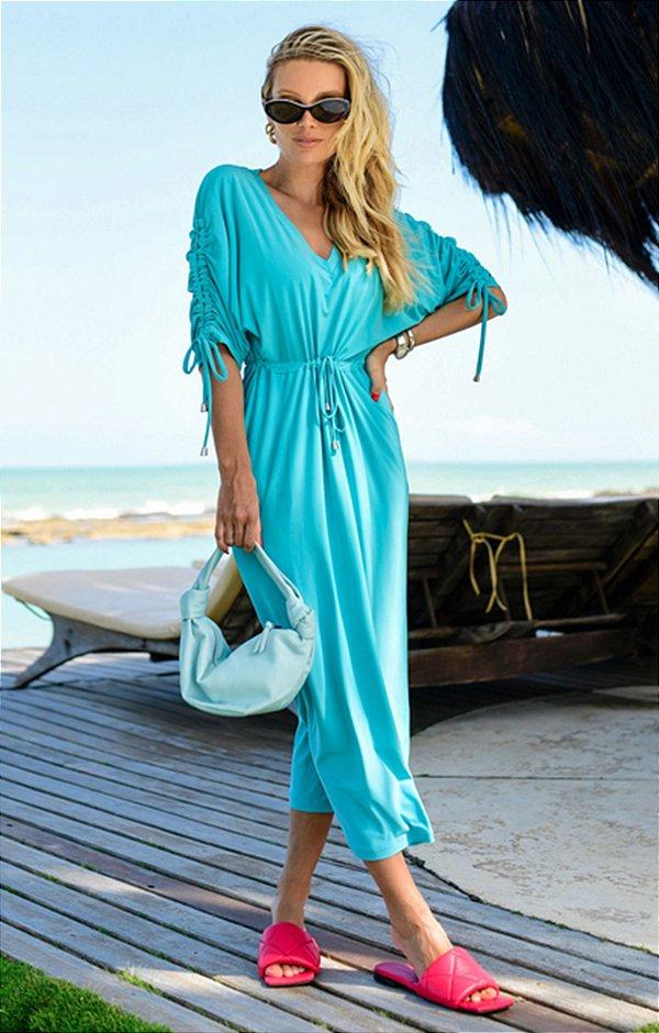 Vestido Madelaine Turquesa | RIVIERA FRANCESA