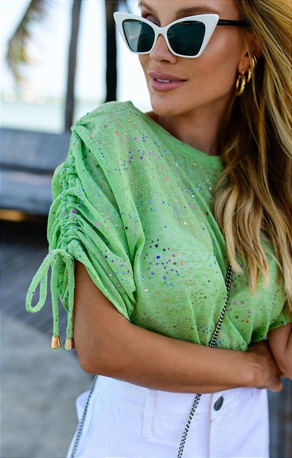 Blusa Camille Verde | RIVIERA FRANCESA