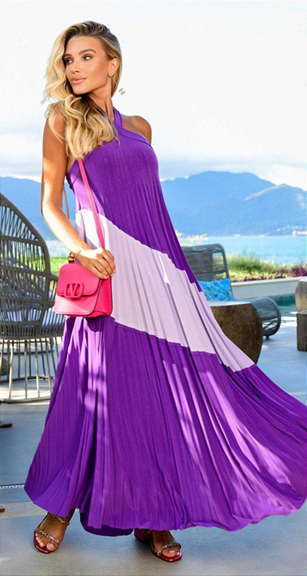 Vestido Plissado Violet | RIVIERA FRANCESA