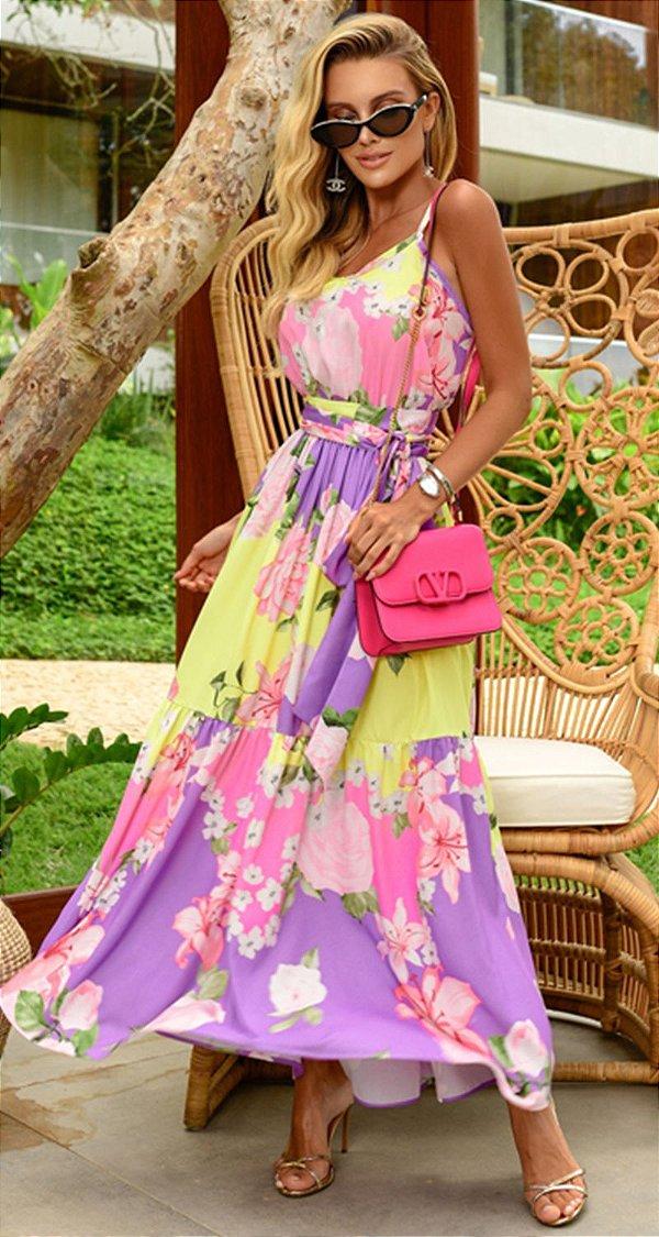 Vestido Midi Floral Noelle | RIVIERA FRANCESA