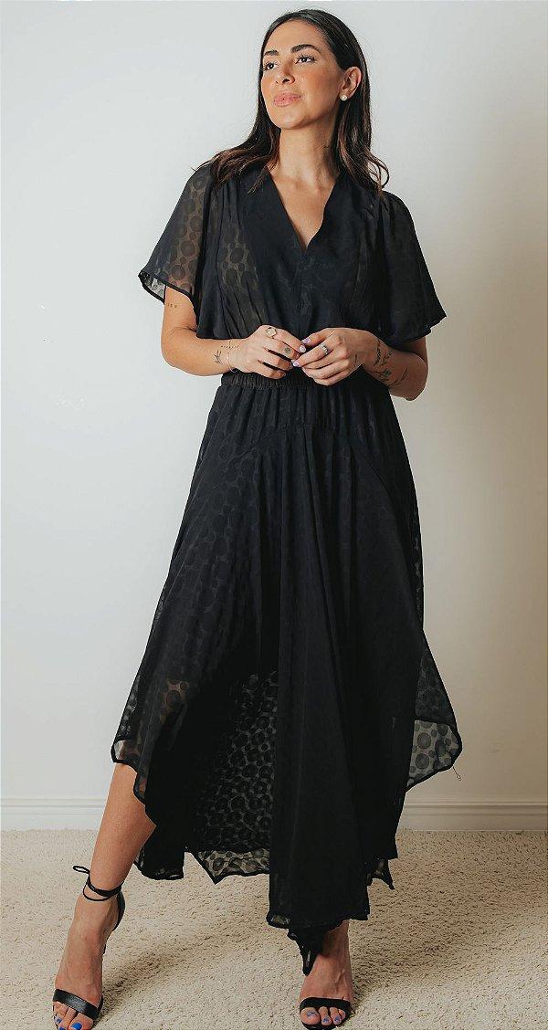 SANTORINI | Vestido Longo Greece Black
