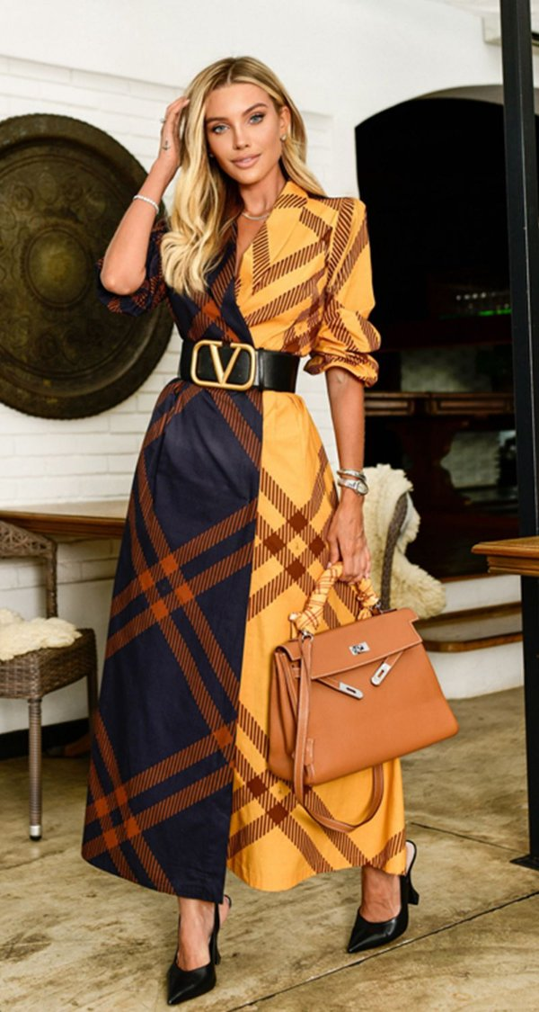 Vestido Chemise Bicolor Fernanda | DNA Blessed