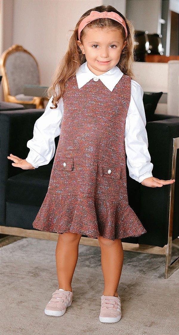 Vestido Tweed Infantil Blessinha Amanda | WINTER Blessed