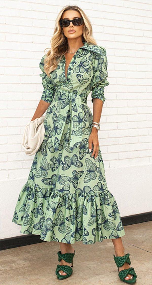 Vestido Midi Babados Aline | DNA BLESSED